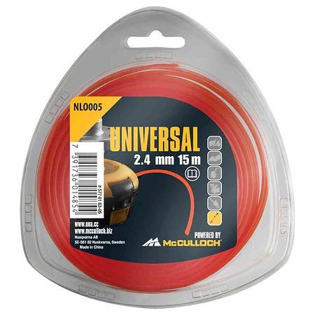 UNIVERSAL Trimmerfaden Nylon 15m NL003,, 1,6mm gelb
