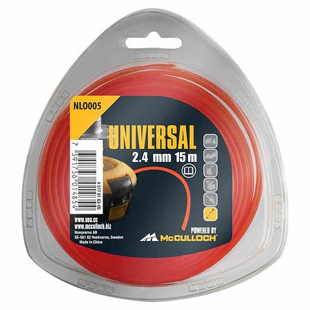 UNIVERSAL Trimmerfaden Nylon 15m NL005,, 2,4mm orange