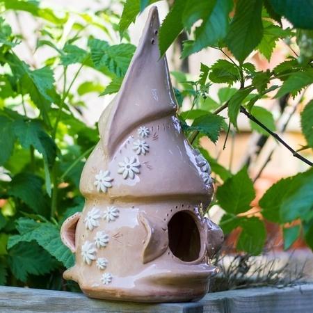 Vogelhaus aus Keramik, 34cm