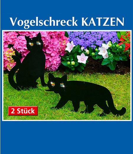"""Vogelschreck """"Katzen"""" 2er-Set,1 Set"""