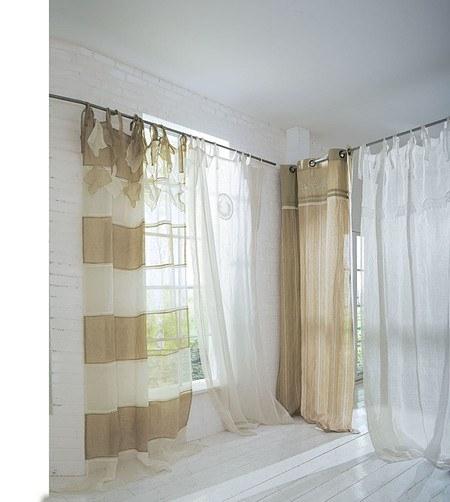 Vorhang Linotta Blockstreifen