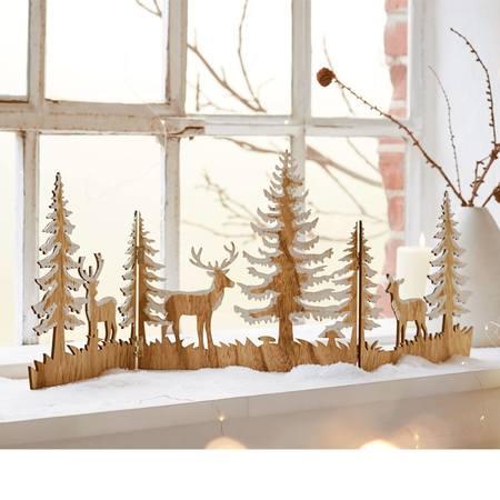 Weihnachts-Silhouette Zauberwald