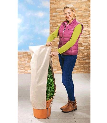 WENKO Winterschutz Vlieshaube für Pflanzen 50x100cm,2 Stück