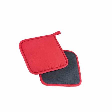 """WESTMARK Topflappen """"Neopren"""" 2er-Set20 x 20 cm, rot/schwarz"""