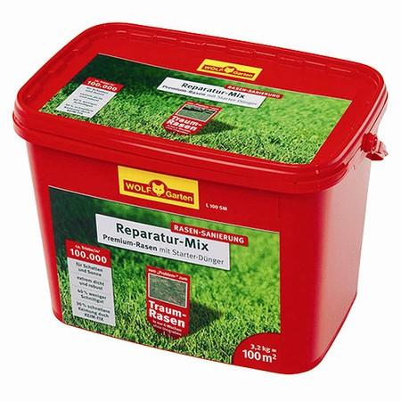 WOLF-GARTEN Premium-Rasen plus Aufbau-Dünger, 3,2 kg für 100 m², L 100 SM