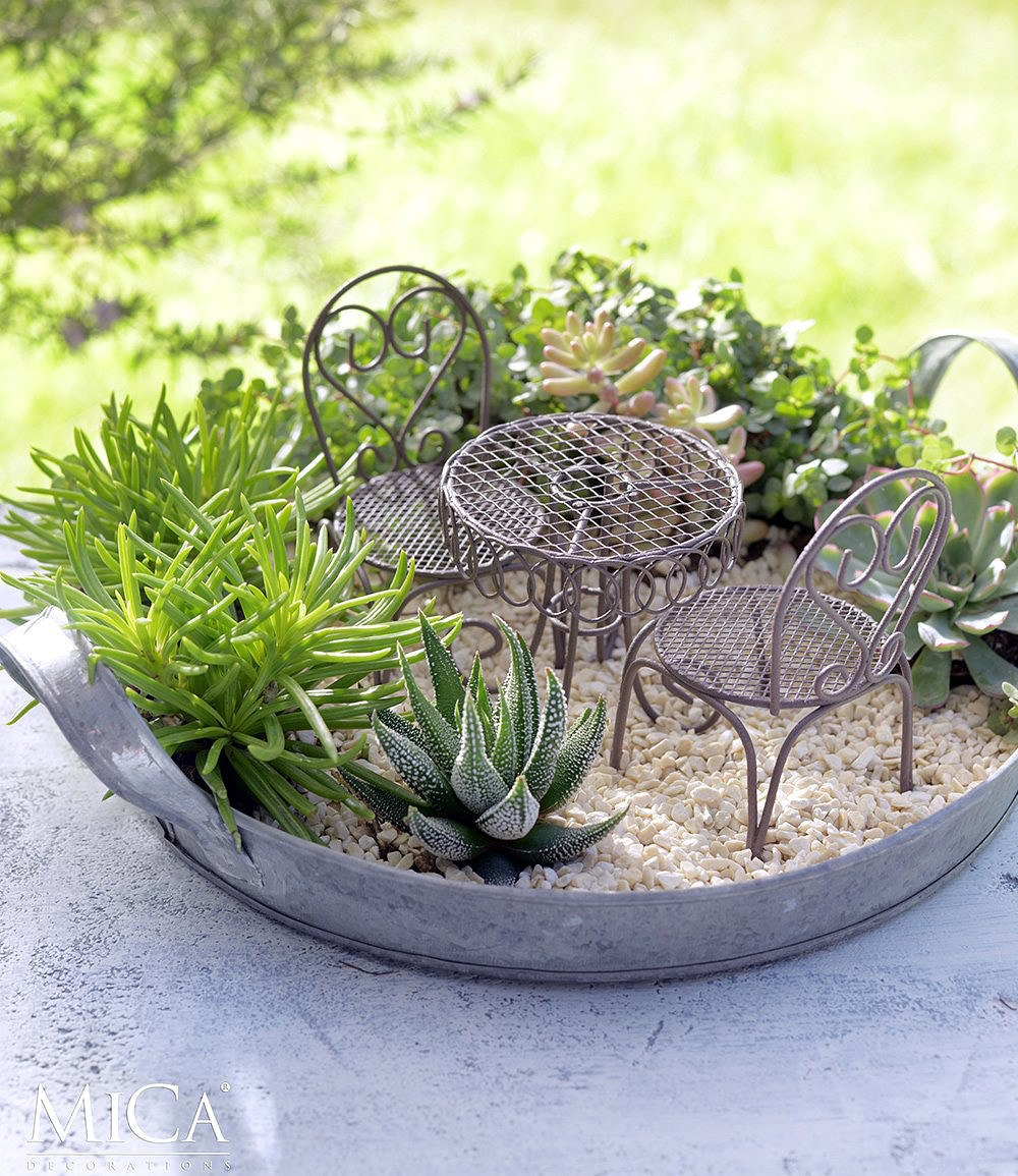 Edelman Mini Garten Bistro Set Braun 3 Teilig1 Set Günstig Online