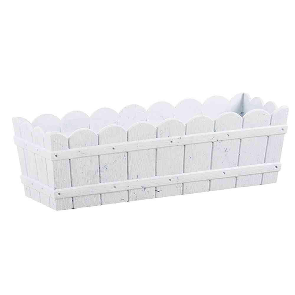 Blumenkasten Weiss Kunststoff