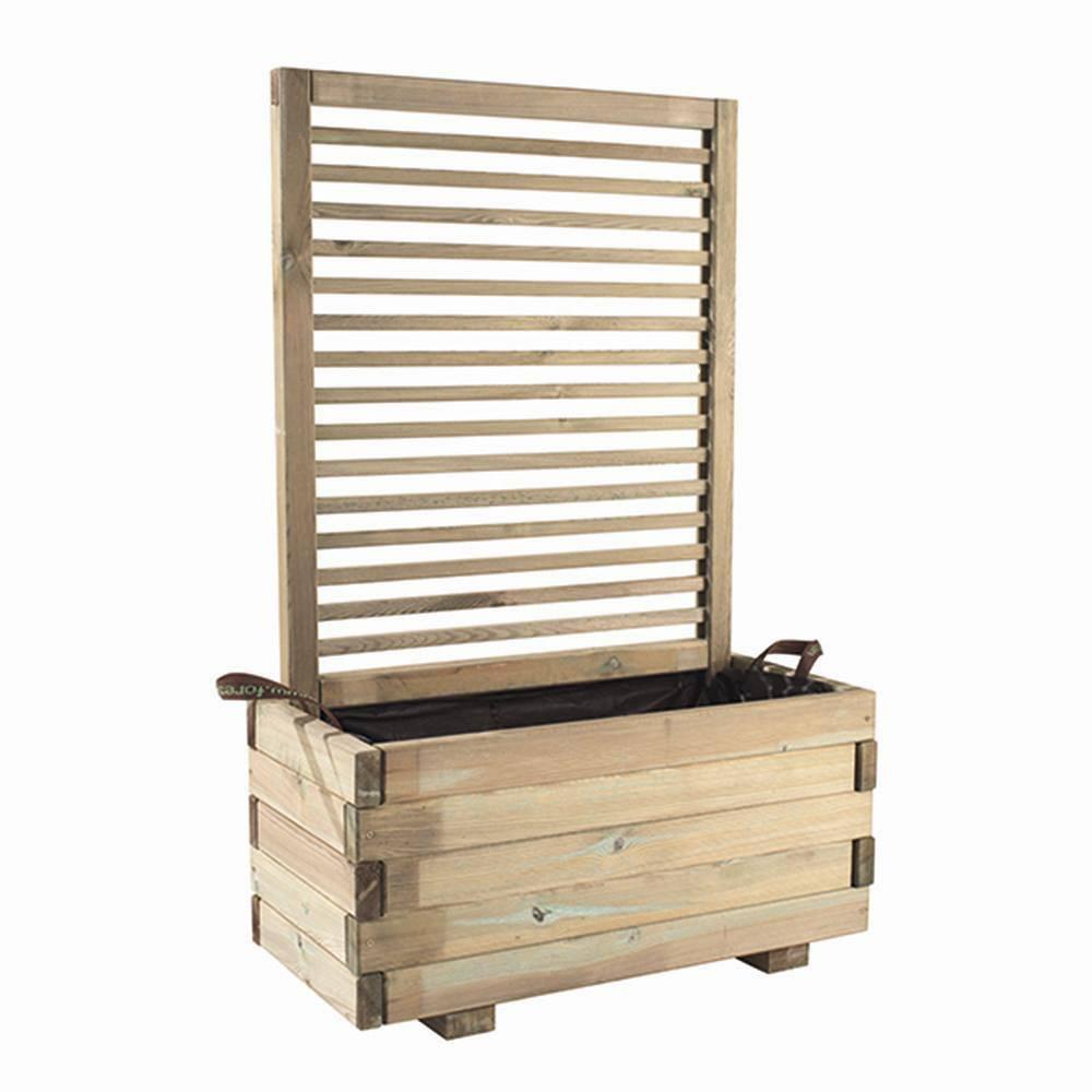 forest style rankgitter aus kiefernholz kdi eckig ma e. Black Bedroom Furniture Sets. Home Design Ideas