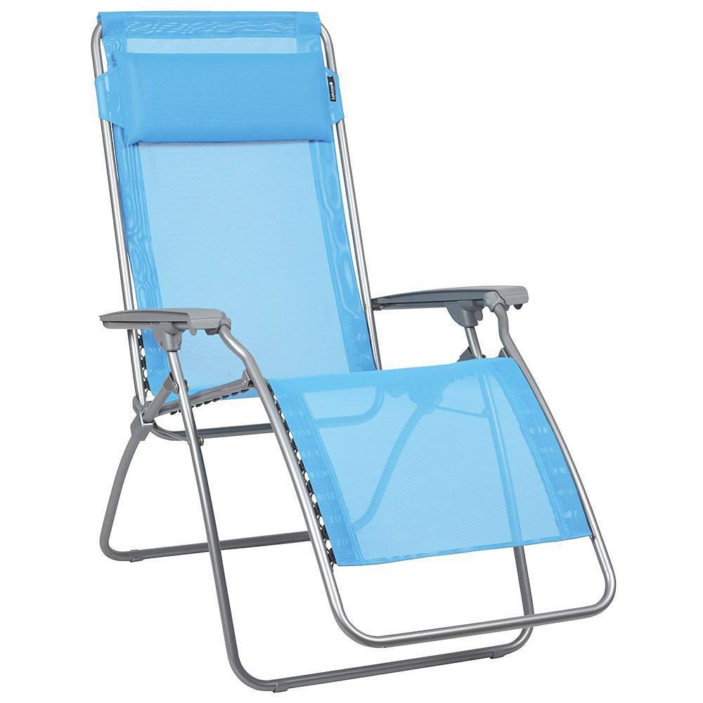 lafuma relaxsessel rclip silber ciel gestell silber textil himmelblau g nstig online kaufen. Black Bedroom Furniture Sets. Home Design Ideas