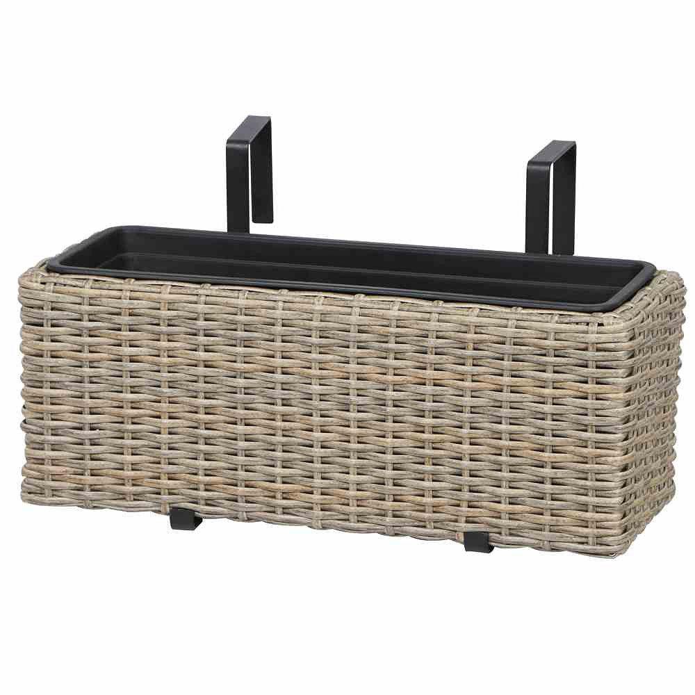 siena garden balkonkasten mio stahl gestell kunststoffgeflecht oak grey almada g nstig. Black Bedroom Furniture Sets. Home Design Ideas