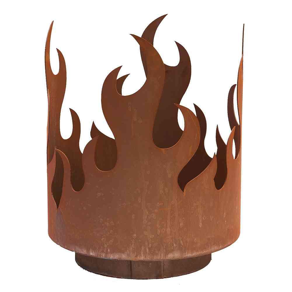 siena garden flammenkorb offene feuerstelle f r holz metall mit edelrost g nstig online kaufen. Black Bedroom Furniture Sets. Home Design Ideas