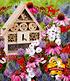 18er Bienen-Pflanzenmix mit Insektenhaus,1 Set (1)