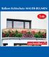 """Balkon-Sichtschutz """"Mauer-Blumen"""",5 Meter (1)"""