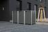 Hide Mülltonnenboxen Mülltonnenbox 240l Alu-Verbund3er Box, 209,1x 80,7x 115,2 cm (BxTxH)