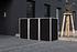 Hide Mülltonnenboxen Mülltonnenbox 240l Alu-Verbund3er Box, 209,1x 80,7x 115,2 cm (BxTxH) (1)