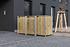 Hide Mülltonnenboxen Mülltonnenbox 240l Holz3er Box, 209,1x 80,7x 115,2 cm (BxTxH) (1)