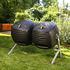 Lifetime Kompost-Zwilling 380 Liter, 148x 80x111 cm (BxTxH) (1)