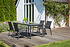 SIENA GARDEN Gartenmöbelset Puglia 5-teilig mit Esstisch und Stapelsessel (1)