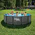 Summer Waves Elite Poolrattan braun (1)