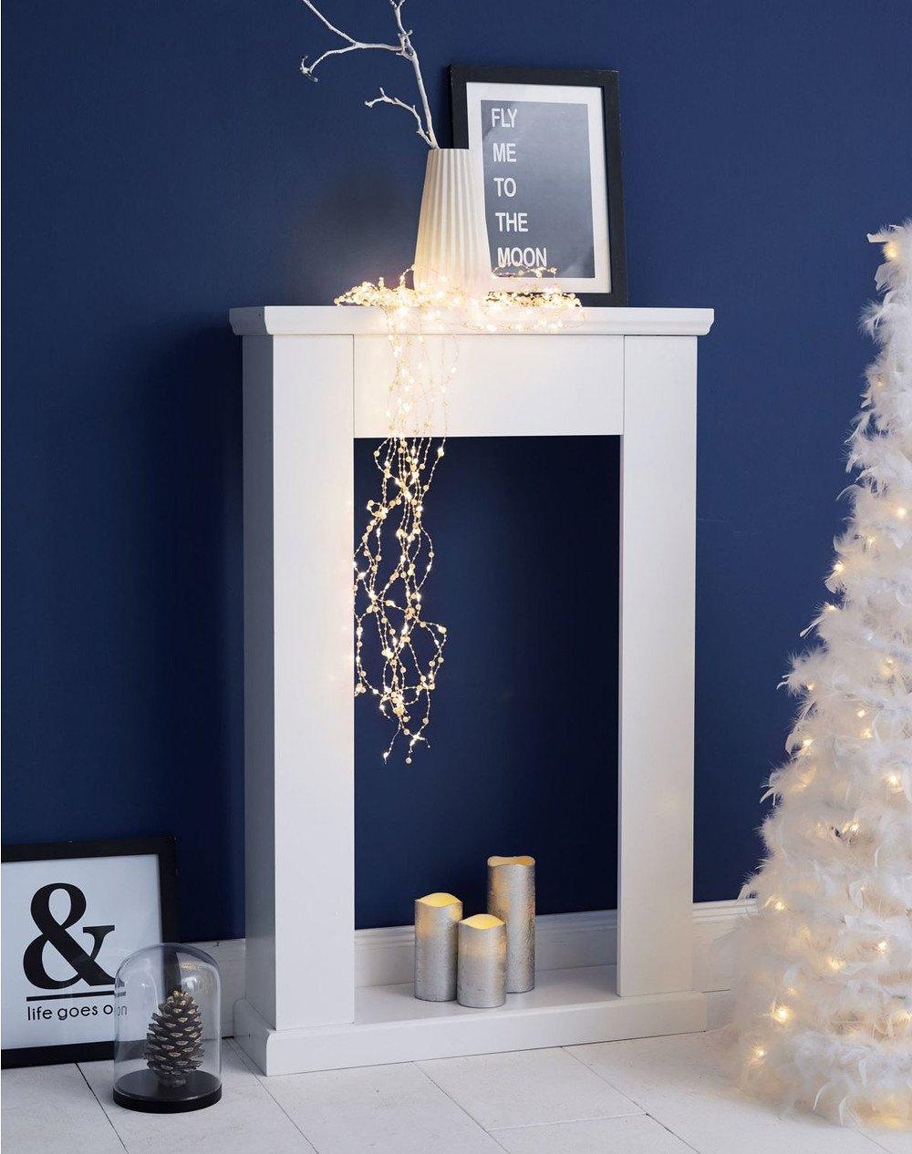 miavilla kaminumrandung wei g nstig online kaufen mein. Black Bedroom Furniture Sets. Home Design Ideas