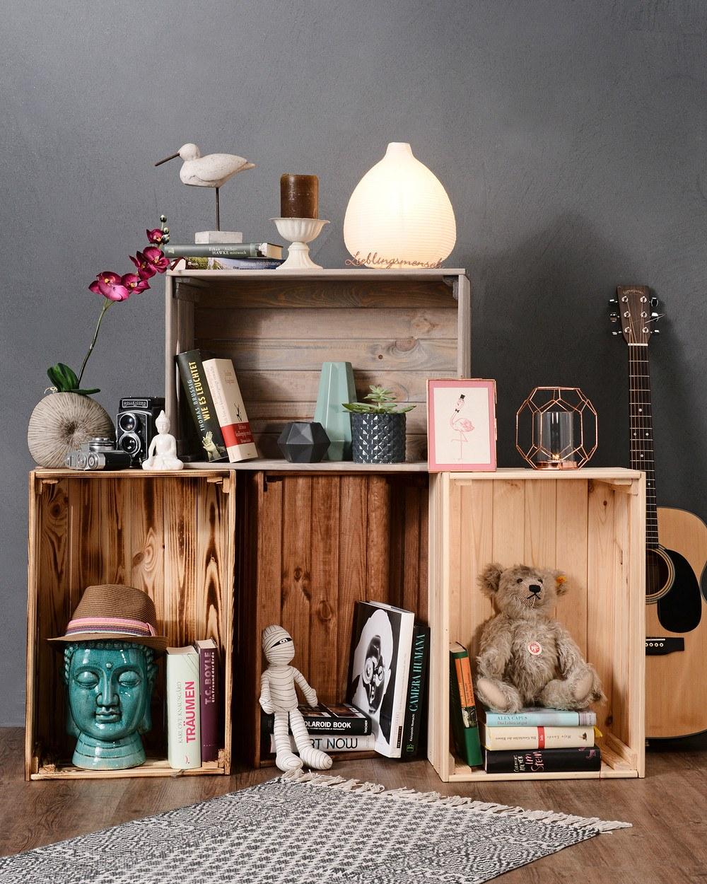 myhomery deko kiste massiv g nstig online kaufen mein sch ner garten shop. Black Bedroom Furniture Sets. Home Design Ideas