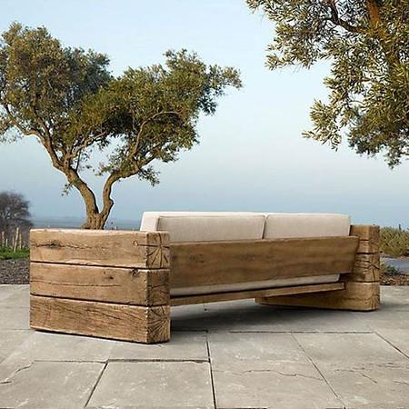 Rustikale Gartenzäune sofa eiche rustikal mit kissen günstig kaufen mein