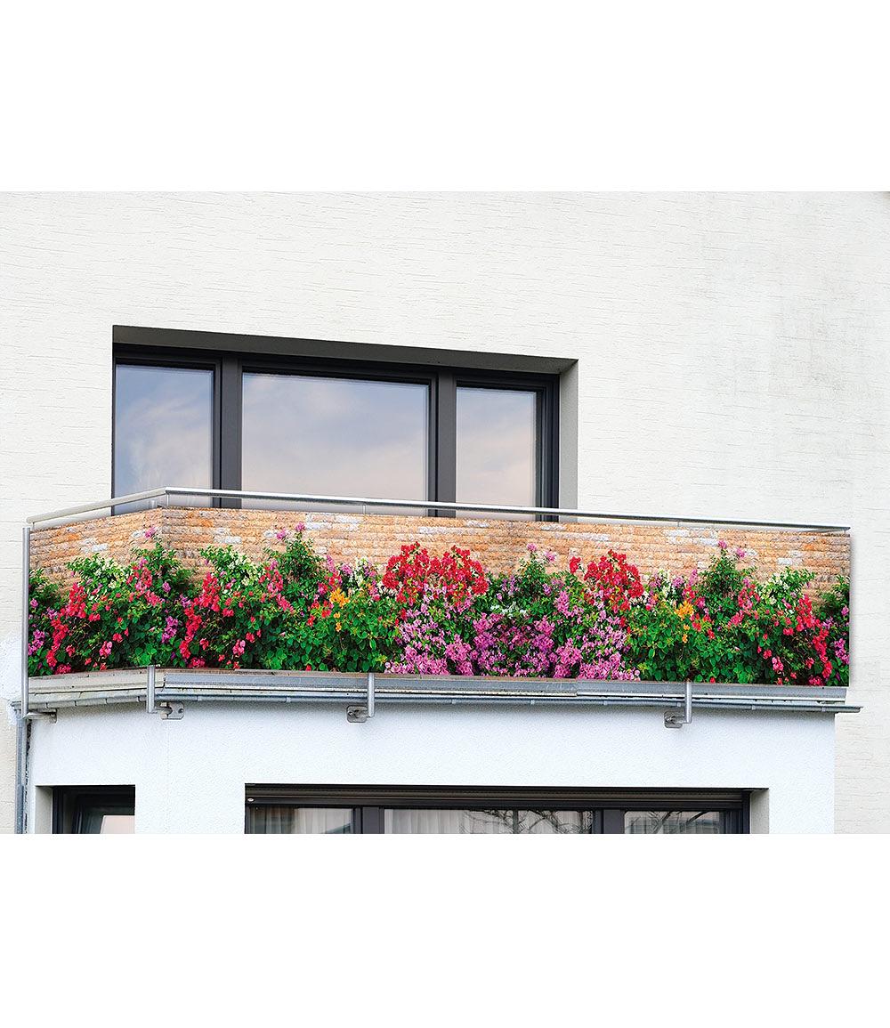 Balkon Sichtschutz Mauer Blumen 5 Meter Gunstig Online Kaufen