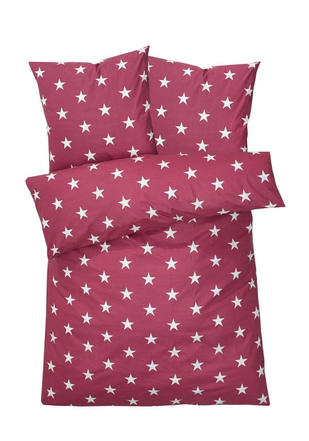 Bettwäsche Sterne Beere 155 X 220 Cm Günstig Online Kaufen Mein