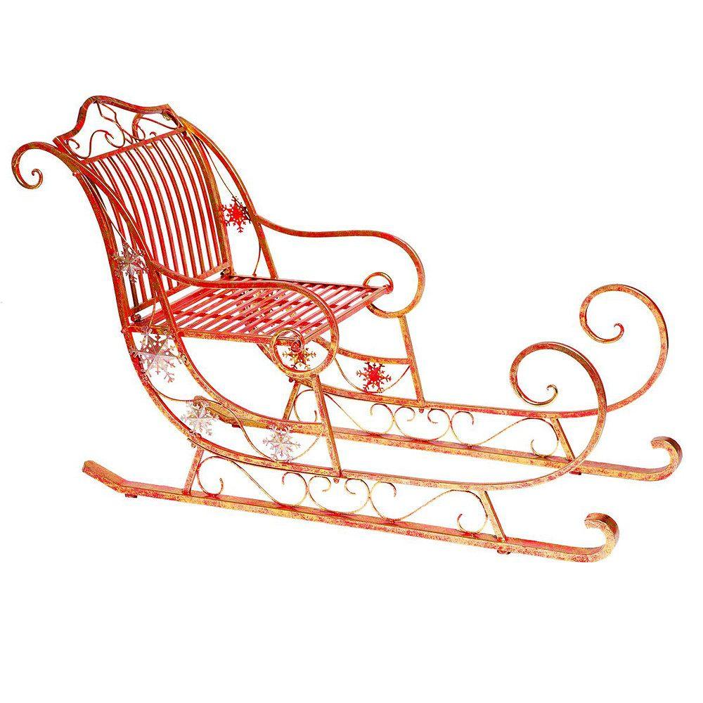 deko schlitten skadi rot goldfarben g nstig online kaufen mein sch ner garten shop. Black Bedroom Furniture Sets. Home Design Ideas
