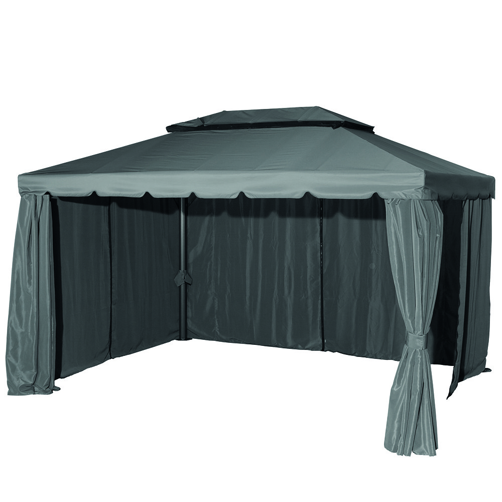 siena garden aluminium pavillon dubai 3x4 m anthrazit grau dach grau g nstig online kaufen. Black Bedroom Furniture Sets. Home Design Ideas