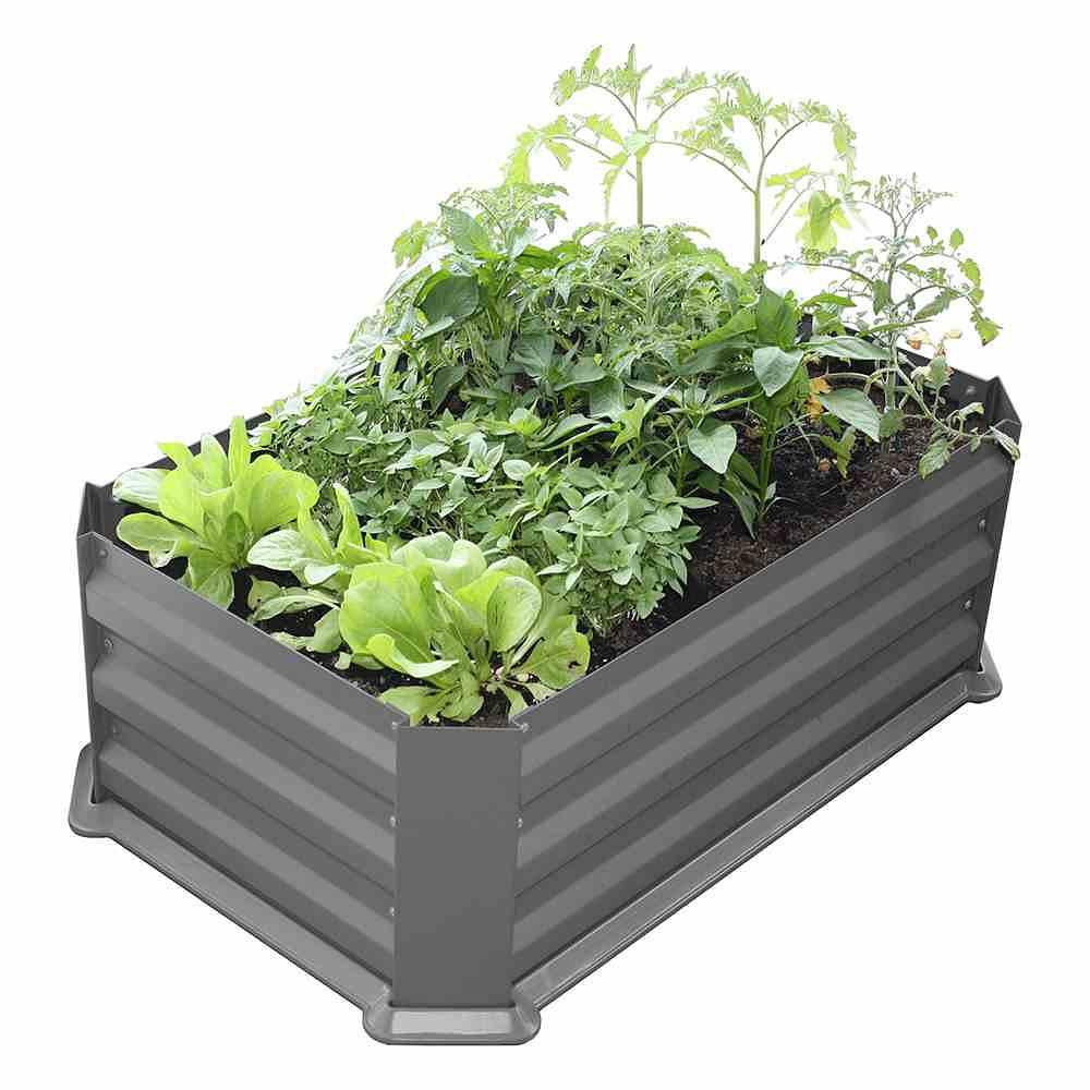 Siena Garden Hochbeet Mit Boden 80x50x30cm Grau Gunstig Online