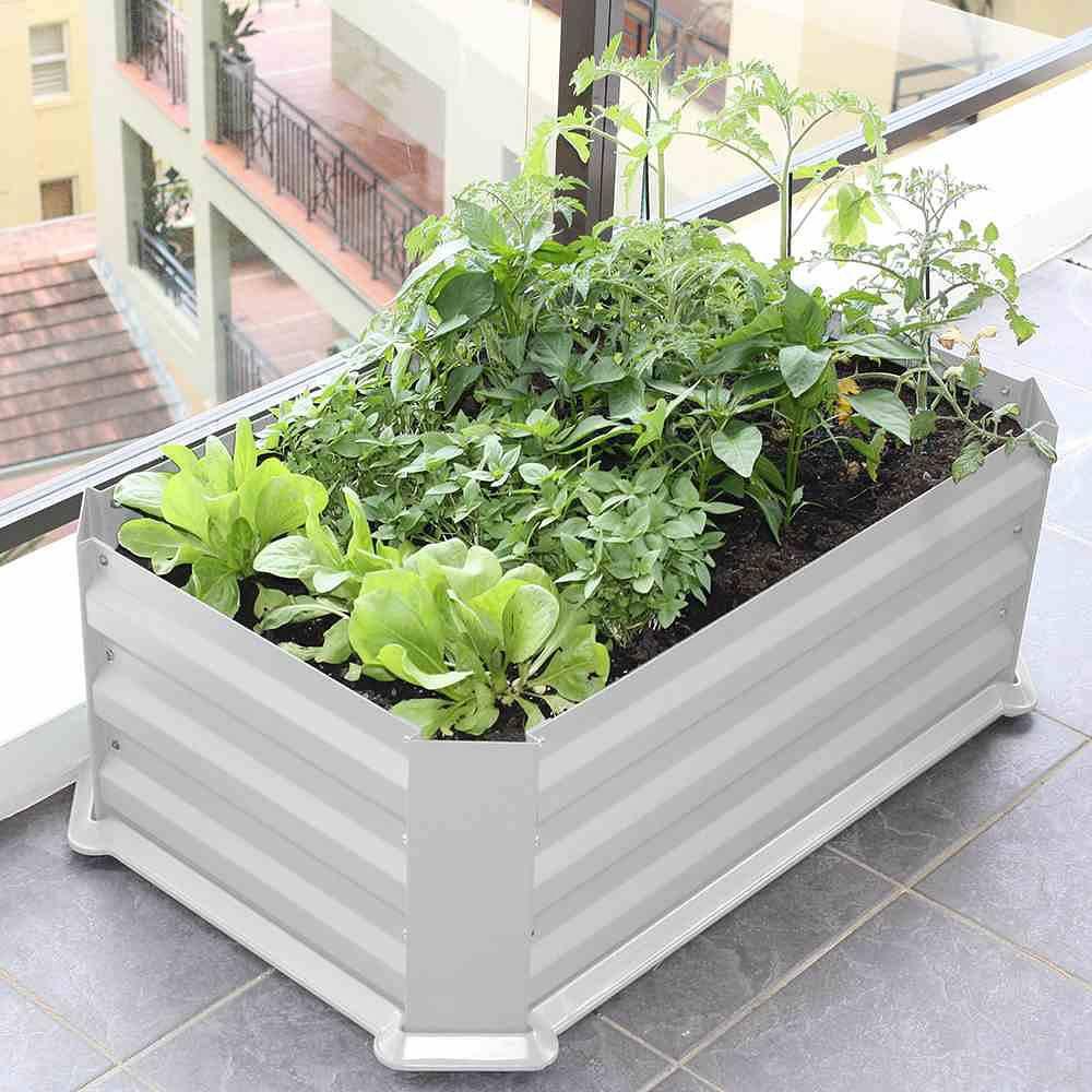 Siena Garden Hochbeet Mit Boden 80x50x30cmvintage Weiss Gunstig