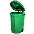 EDA Fahrbarer Abfallbehälter 110LFarbe: grün, Maße: 55x58x81cm (2)