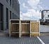 Hide Mülltonnenboxen Mülltonnenbox 240l Holz2er Box, 139,4x 80,7x 115,2 cm (BxTxH) (2)