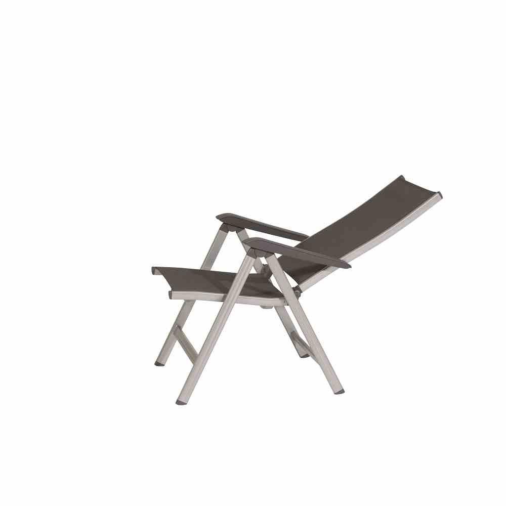 kettler klappsessel basic plus silber anthrazit g nstig. Black Bedroom Furniture Sets. Home Design Ideas