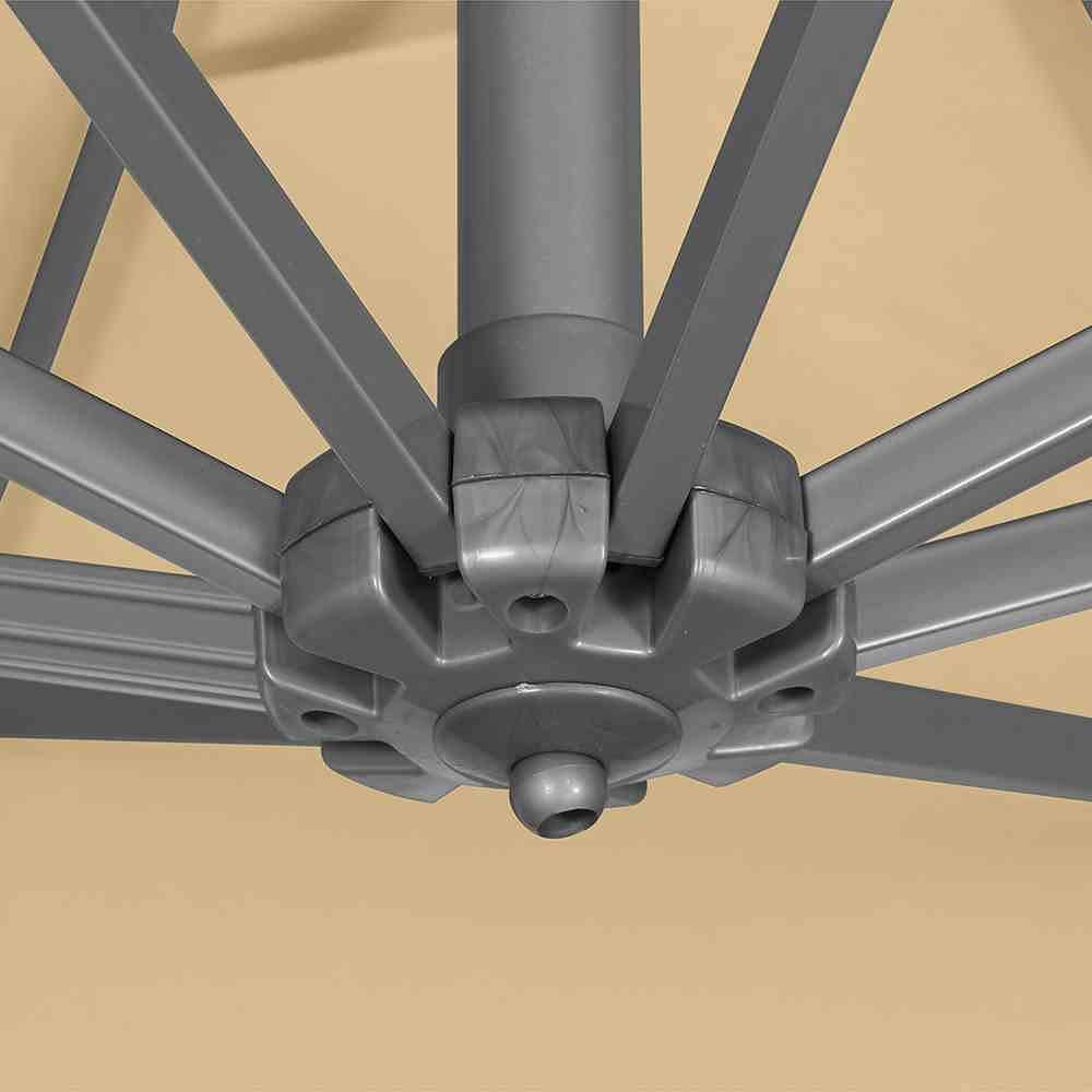 siena garden ampelschirm davos 3x3 m ecru aluminium gestell silber bezug ecru g nstig online. Black Bedroom Furniture Sets. Home Design Ideas