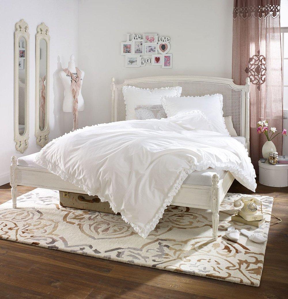Miavilla Bettwäsche Rüschen Weiß 135 X 200 Cm Günstig Online Kaufen